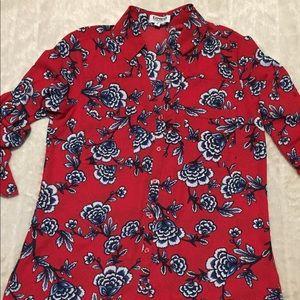 Express floral portofino shirt